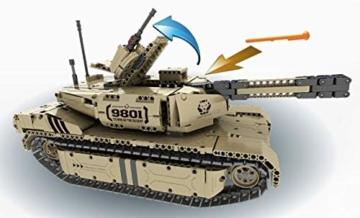 QIHUI Panzer Ferngesteuert mit Schussfunktion